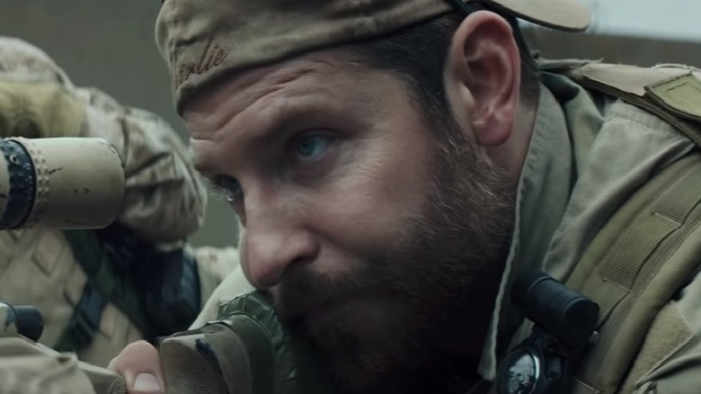 Chris Kyle aiming rifle