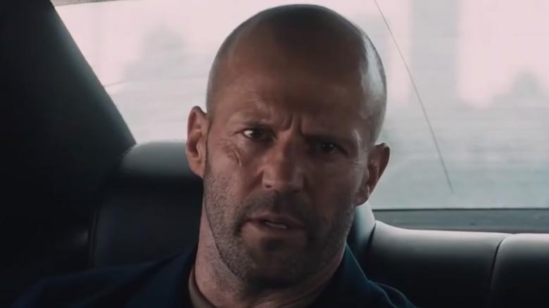 Jason Statham scowling