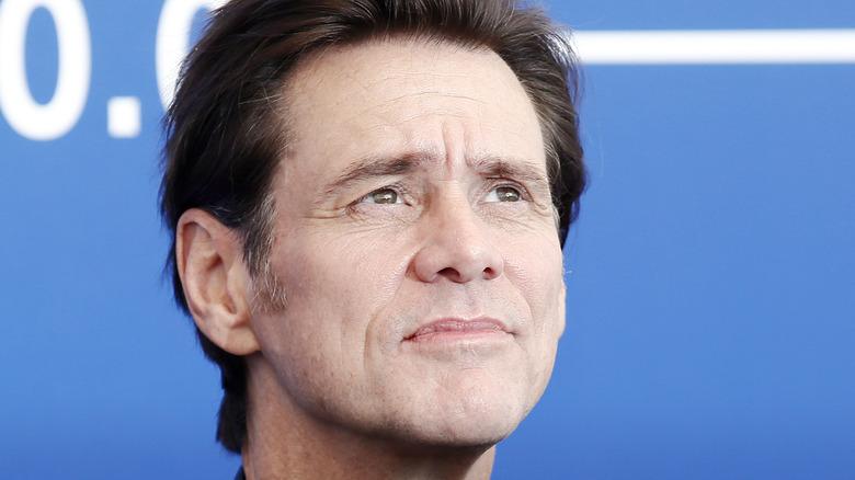 Jim Carrey looking up