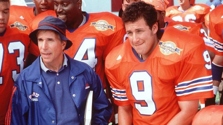 Coach Cline Bobby Boucher huddle