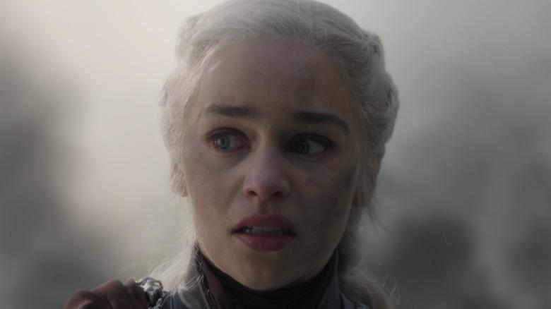 Khaleesi upset in game of thrones