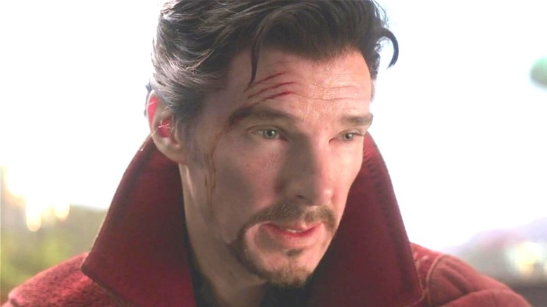 Doctor Strange with battle scars