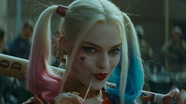 Harley Quinn smirking
