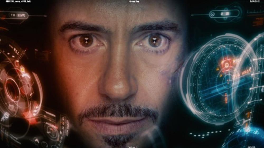 Tony Stark heads up display