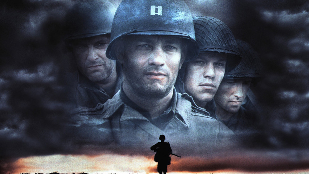 The cast of Saving Private Ryan in promo poster