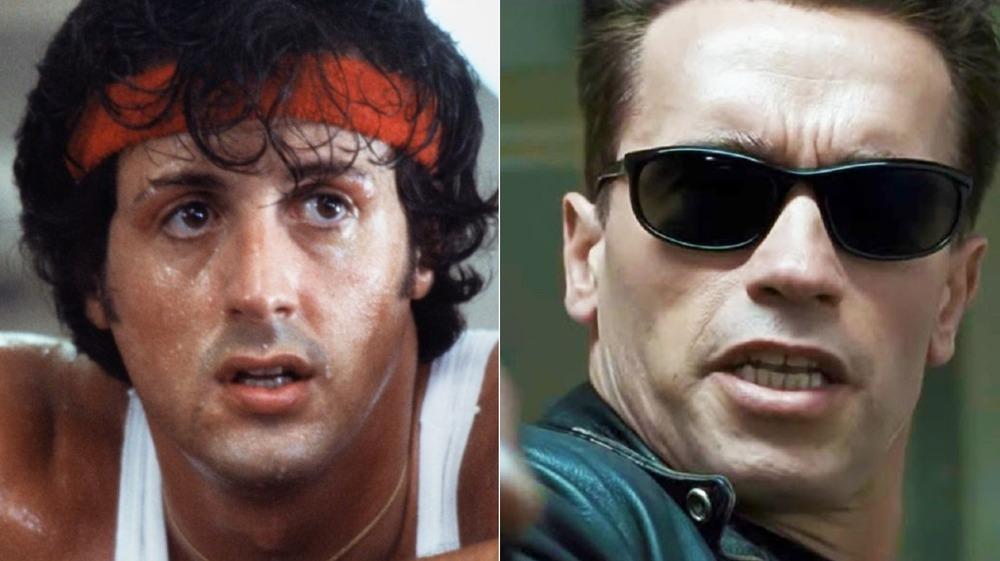 Sylvester Stallone in Rocky II, Arnold Schwarzenegger in Terminator 2