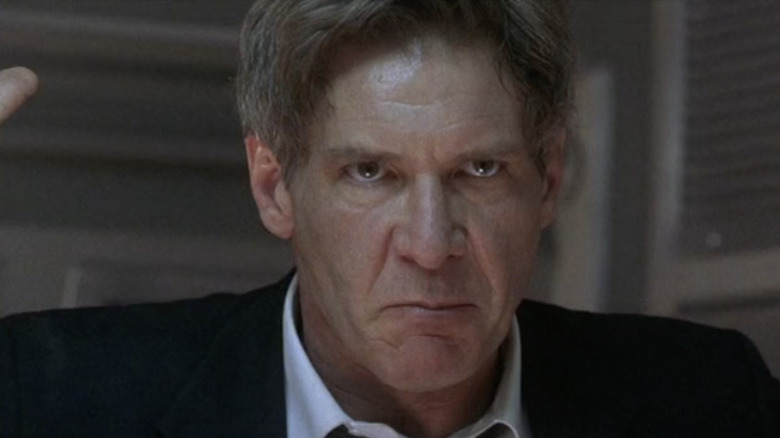 Harrison Ford scowls
