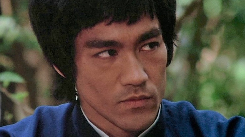 Bruce Lee listening