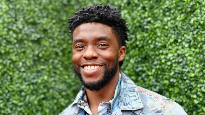 Chadwick Boseman happy smile