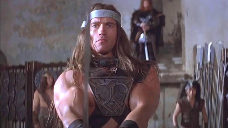 Arnold Schwarzenegger as Conan in Conan the Barbarian