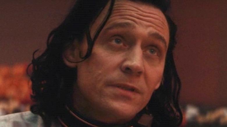 Loki looking up