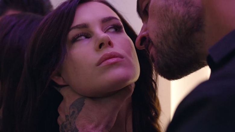 Massimo (Michele Morrone) gets a little rough with Laura (Anna Maria Sieklucka) in 365 dni