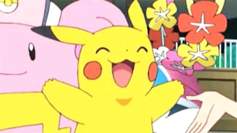 Pikachu in the Pokemon TV series