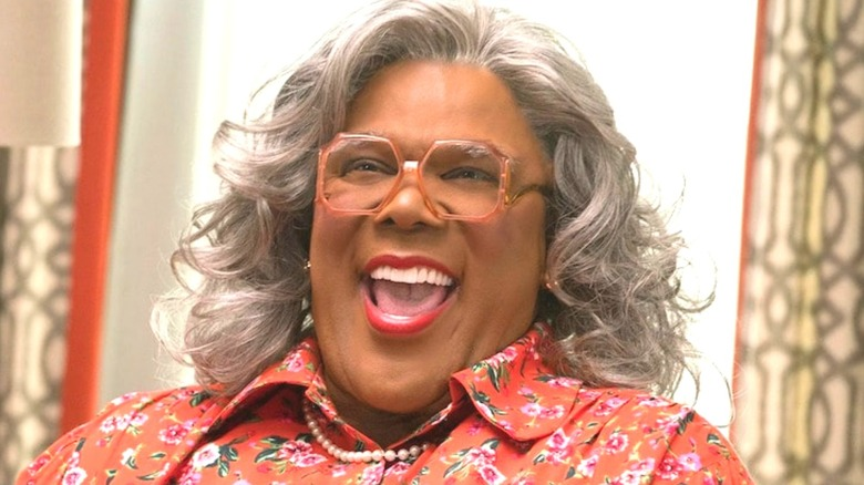 Tyler Perry as Madea laughing