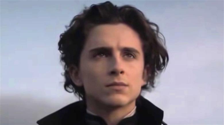 "Timothée Chalamet looks serious in ""Dune"""