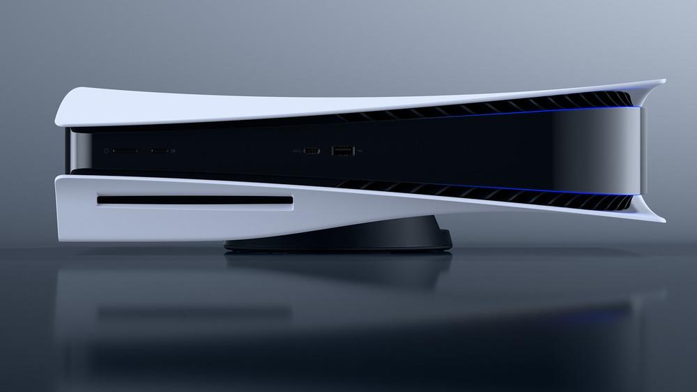 PS5 console sideways