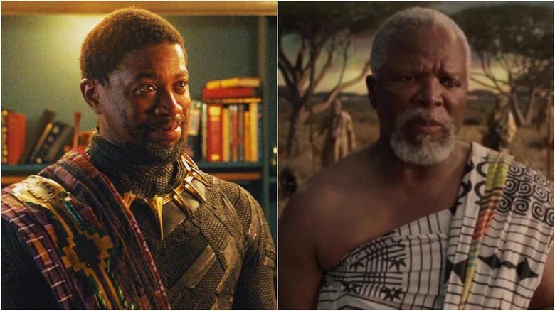 John Kani and Atandwa Kani in Black Panther