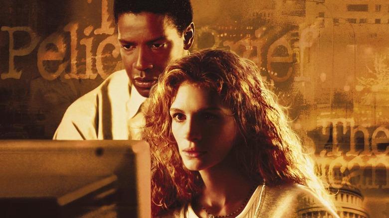 Denzel Washington and Julia Roberts in The Pelican Brief