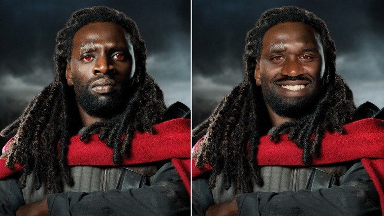 Omar Sy and Shaquille O'Neal