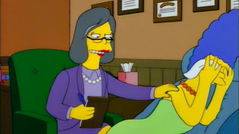 Zweig consoling Marge Simpson