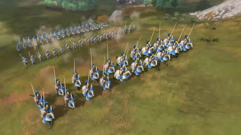 Age of Empires 4 Horse Sword Lancers Charge