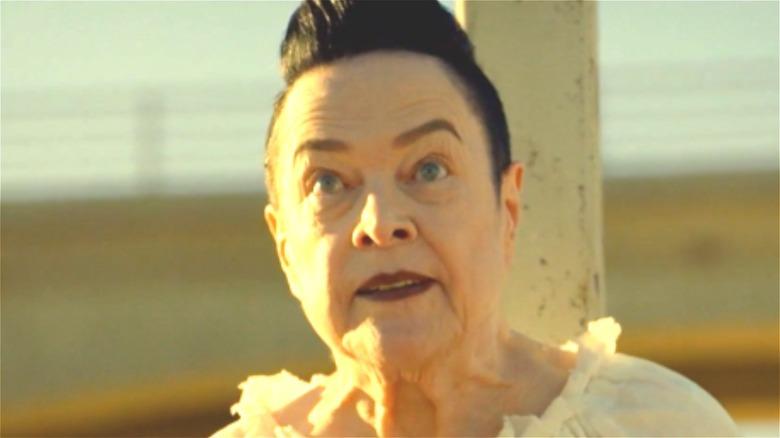 Kathy Bates looks menacing as Ms. Mead