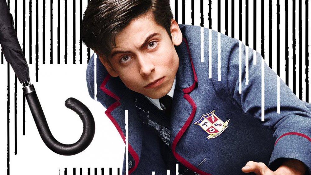 Aidan Gallagher as Number Five Netflix's Umbrella Academy poster