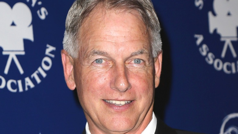 Mark Harmon smiling at event