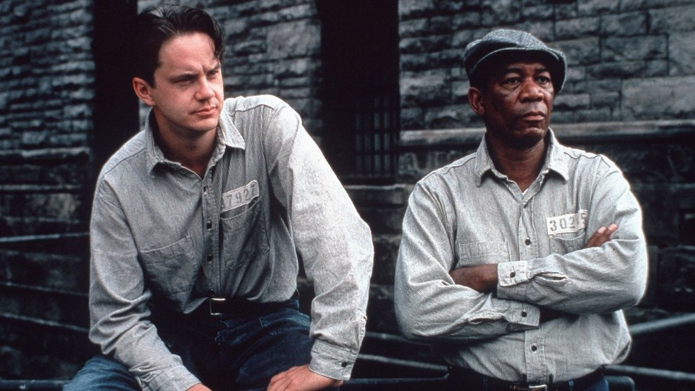 Tim Robbins and Morgan Freeman in The Shawshank Redemption