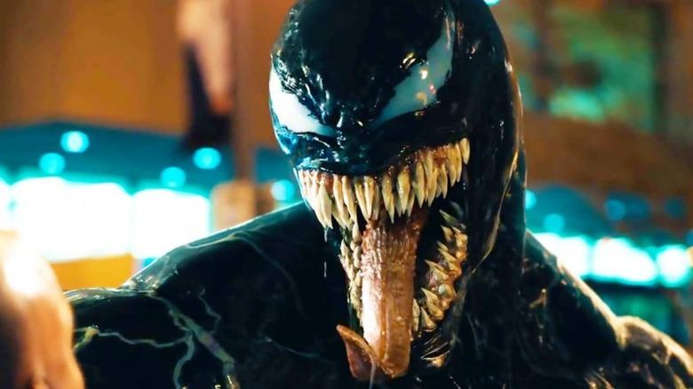 Venom the symbiote in the film Venom