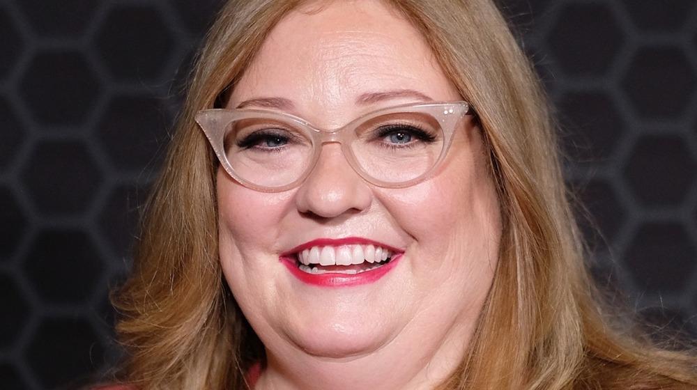 Alison Schapker smiling glasses