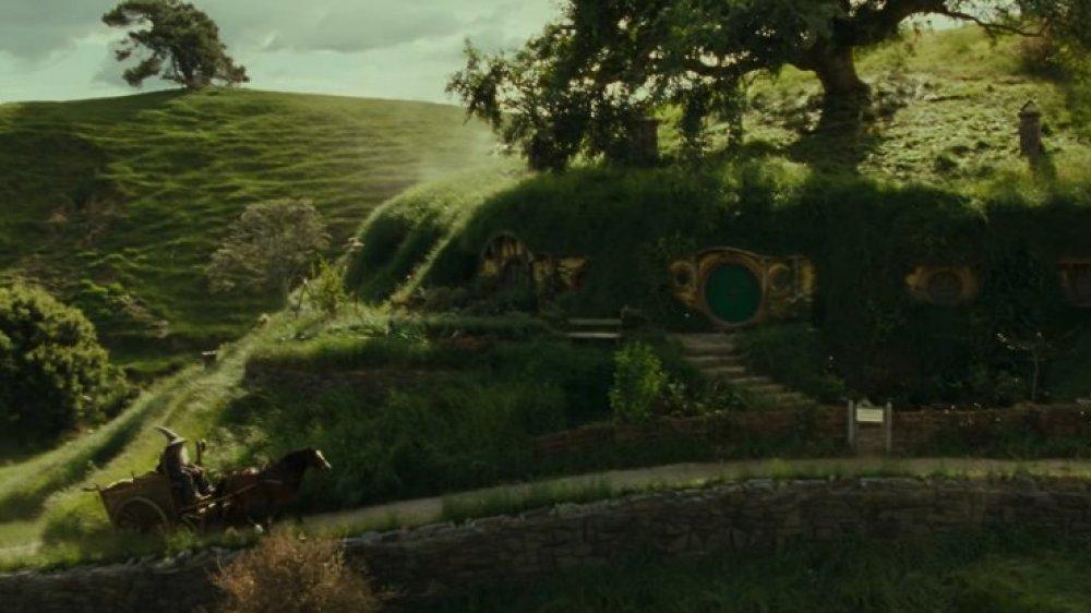 Gandalf arrives at Bag-End in The Hobbit