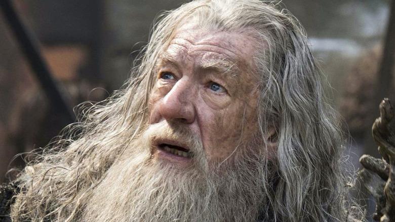Gandalf looking up