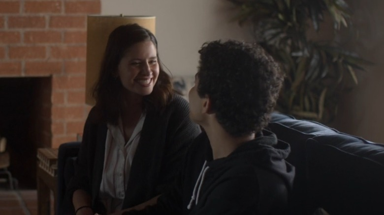 Michelle smiling at Rory