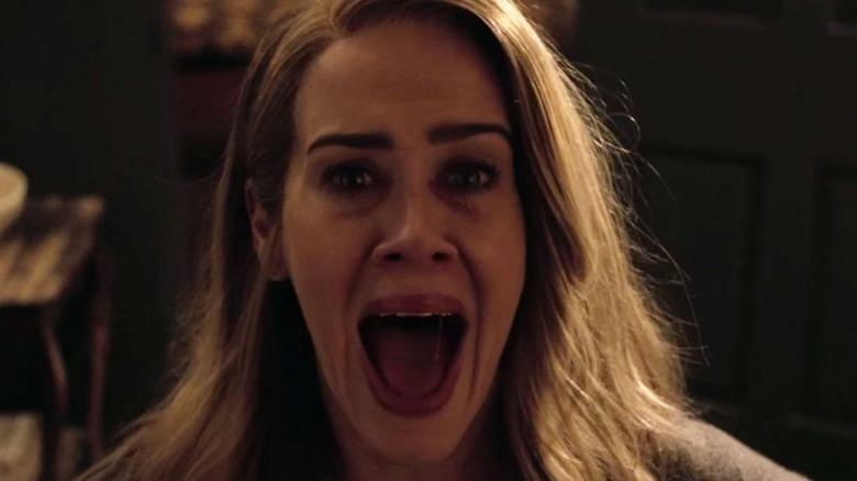 Sarah Paulson screaming American Horror Story