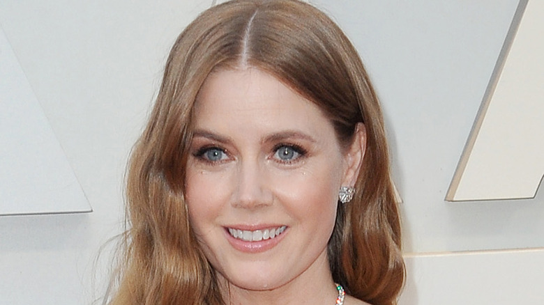 Amy Adams in front of a white background