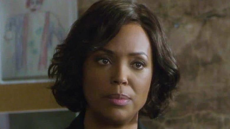 Aisha Tyler stares in Criminal Minds
