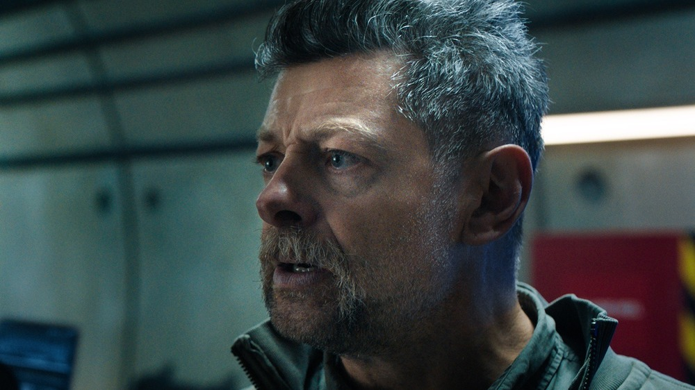 Andy Serkis in a scene from SAS: Red Notice