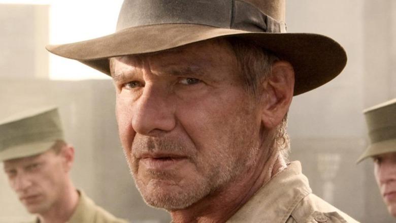 Indiana Jones staring