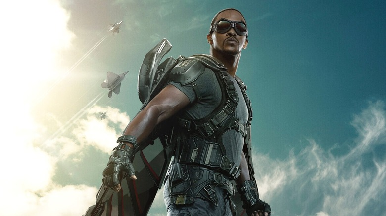 Promo image of Anthony Mackie as the Falcon