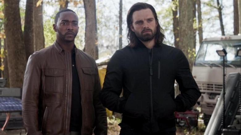 Anthony Mackie and Sebastian Stan in Avengers Endgame