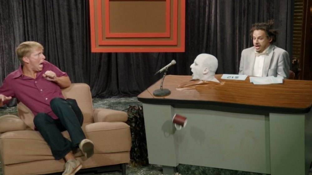 Jack McBrayer and Eric Andre on The Eric Andre Show