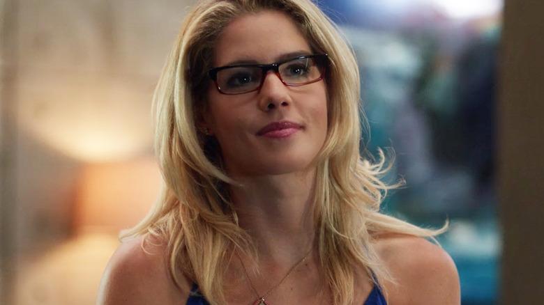 Emily Bett Rickards as Felicity Smoak on Arrow