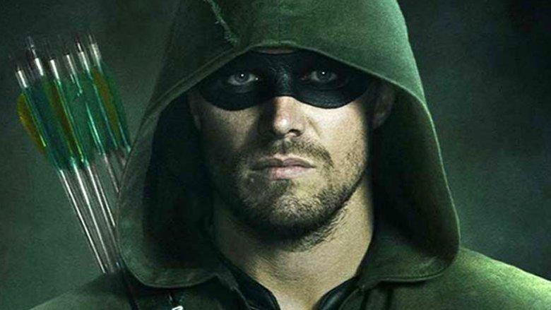 Stephen Amell as Arrow on The CW's Arrow