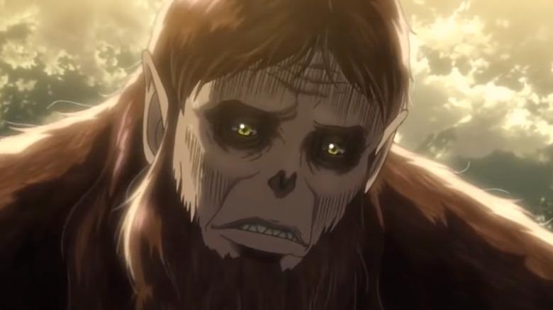 The Beast Titan looking worried