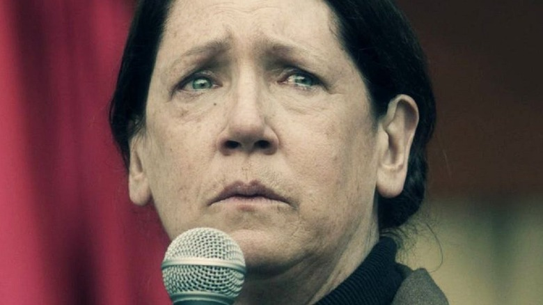 Aunt Lydia with microphone