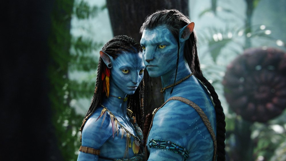 Jake Sully and Neytiri on the Planet Pandora in Avatar