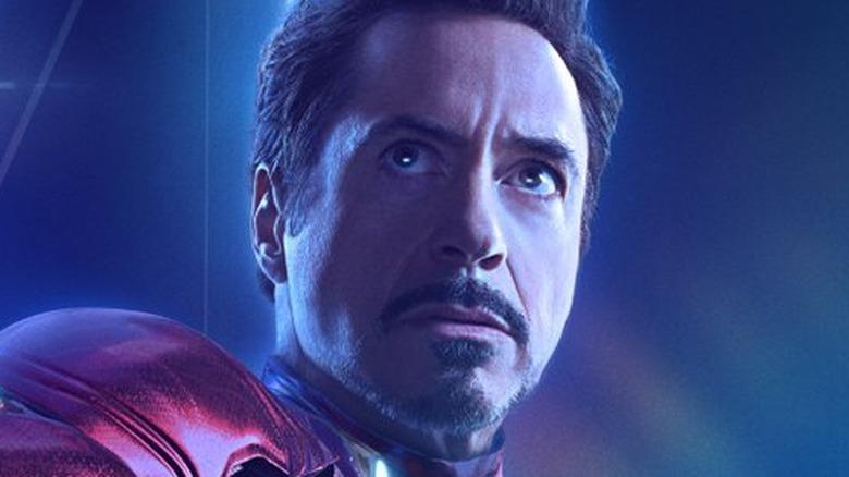Robert Downey Jr. as Iron Man Avengers: Infinity War poster