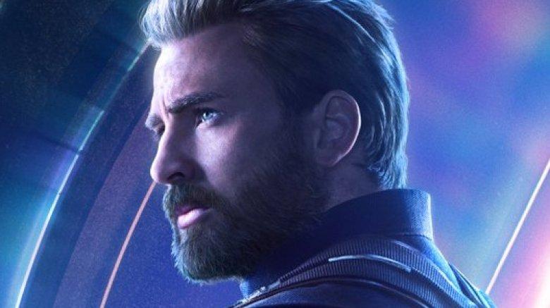 Chris Evans Captain America Avengers Infinity War poster