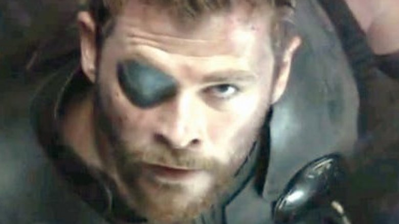 Thor on bridge with eyepatch in Avengers: Infinity War